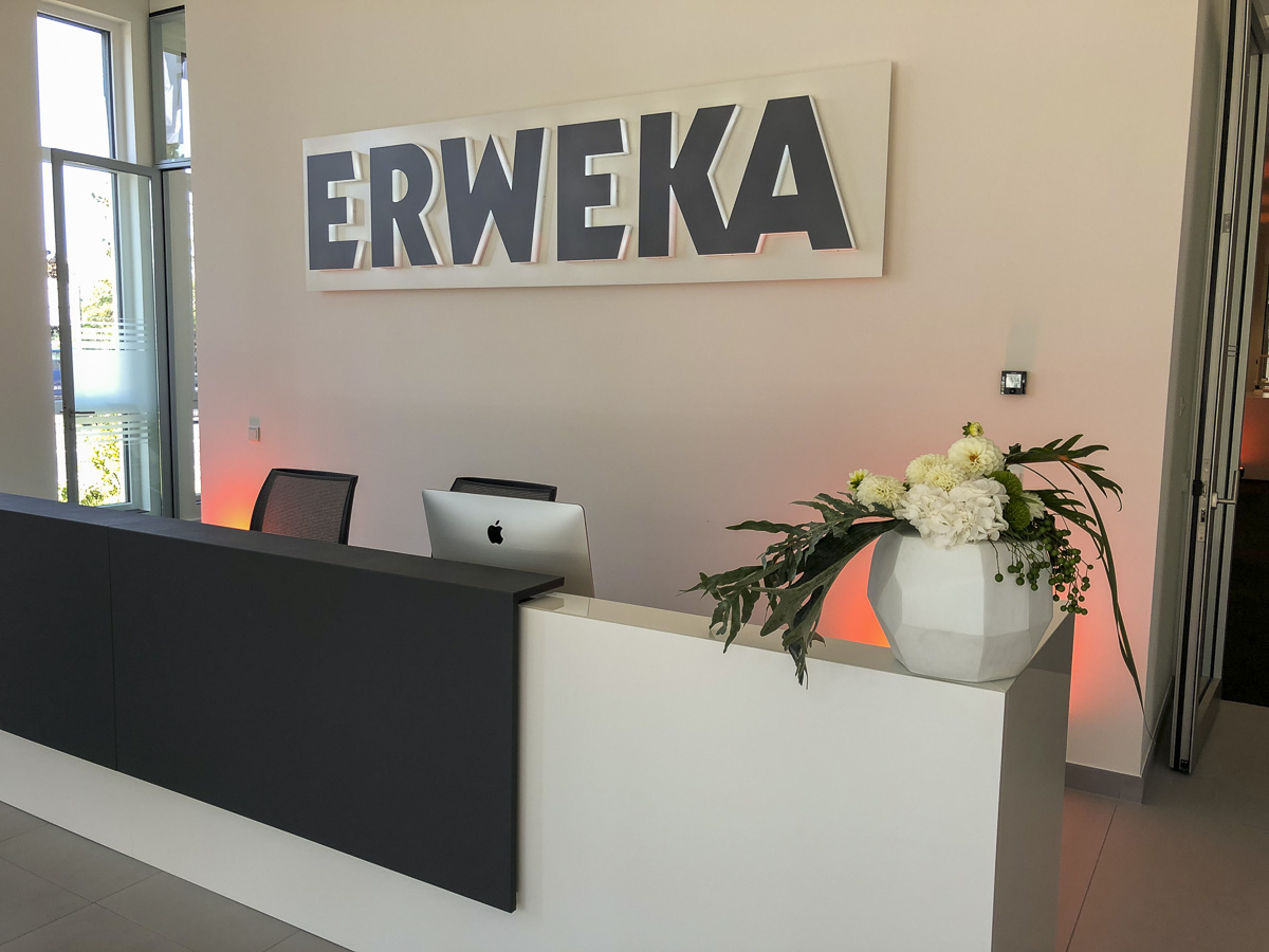 Welcome to Erweka - reception area