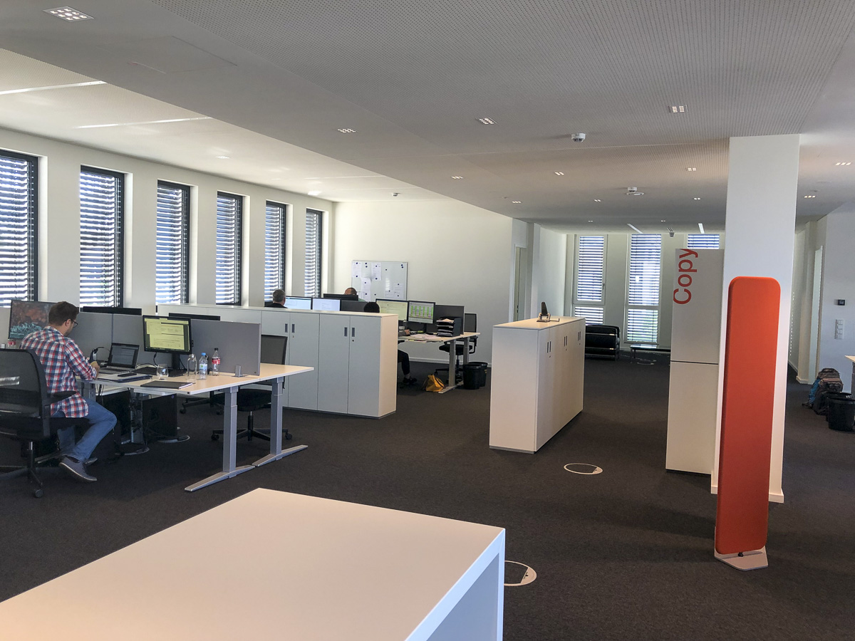 Second Floor Customer Support and open Office Area