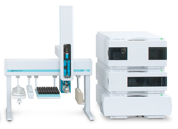 Online UV-Vis analysis or HPLC