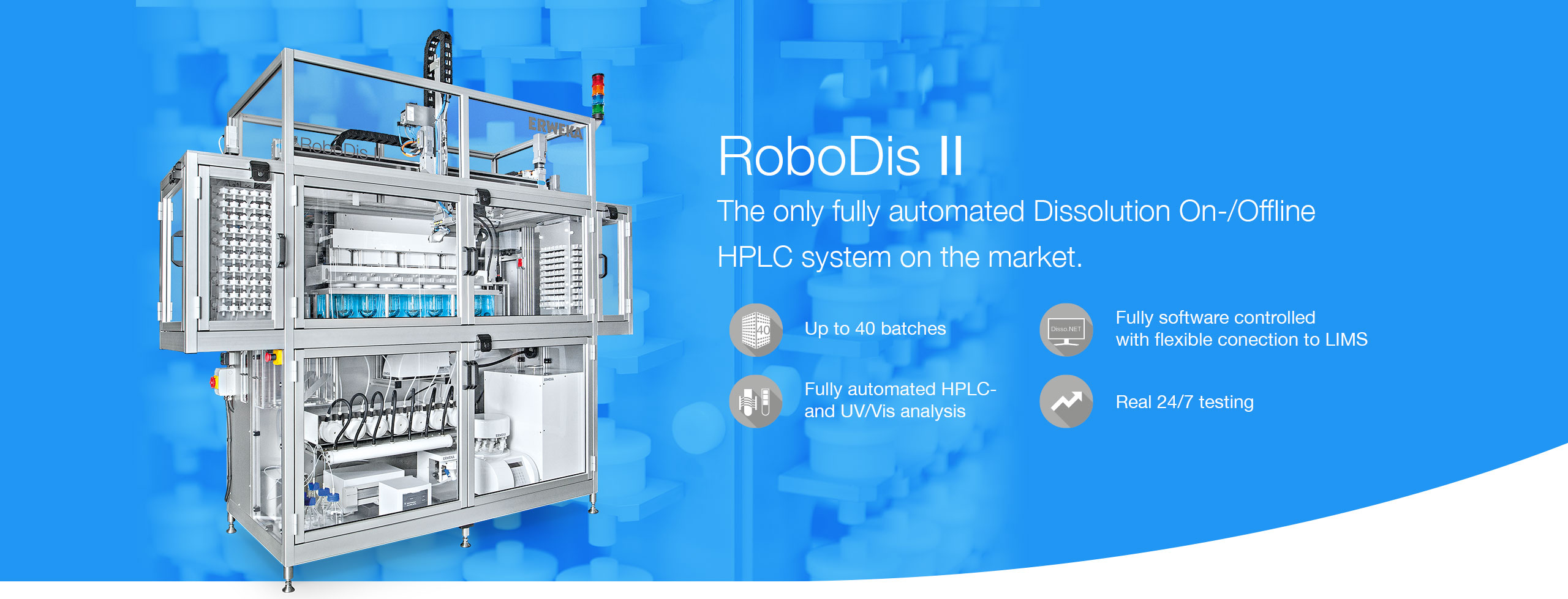 RoboDis II - The only fully automated HPLC system on the market.