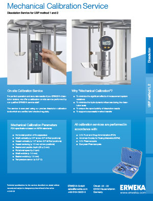 Mechanical Calibration Service Specsheet ENG